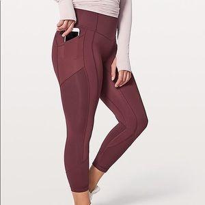 Lululemon burgundy leggings size 10